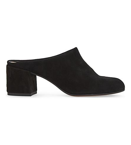 ALDO Egerie suede heeled mules (Black+suede