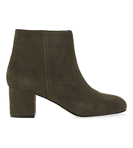 ALDO Ciredia suede heeled ankle boots (Khaki