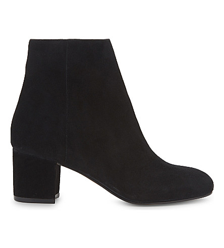 ALDO Ciredia suede heeled ankle boots (Black+suede