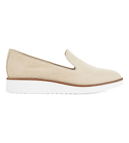 ALDO Stephona leather wedge slippers (Bone