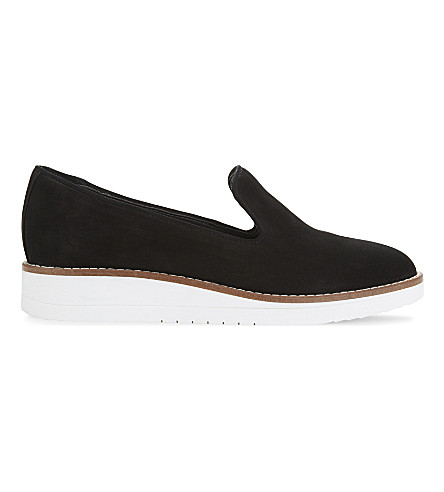 ALDO Stephona leather loafers (Black+nubuck