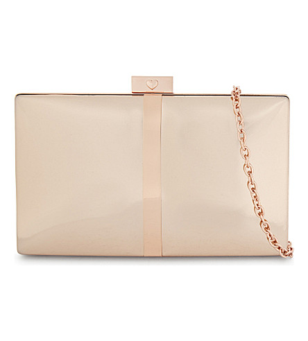ALDO Pearson metallic clutch bag (Pink+miscellaneous