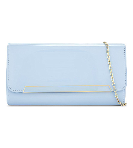 ALDO Jeriecien patent clutch (Light+blue