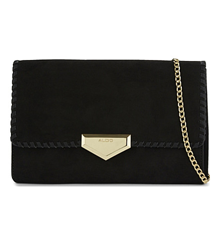 ALDO Properity cross-body bag (Black+suede
