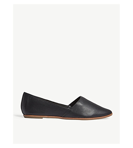 ALDO Blanchette leather flats (Black+leather