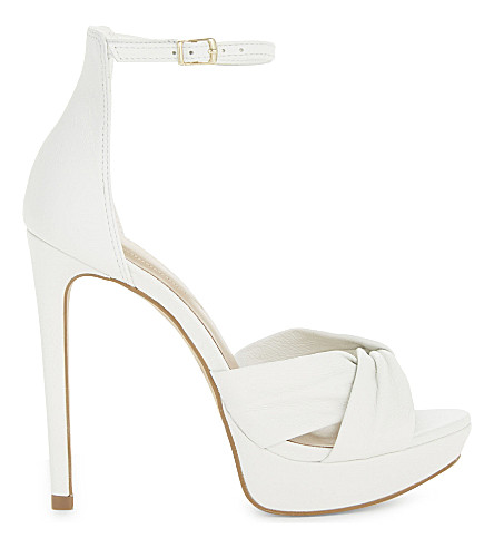 ALDO Ameline leather heeled sandals (White