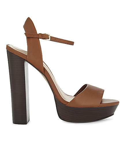 ALDO Talluto leather heeled sandals (Medium+brown