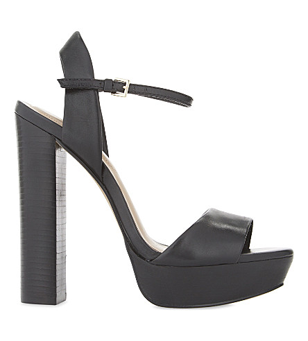ALDO Talluto leather heeled sandals (Black+leather