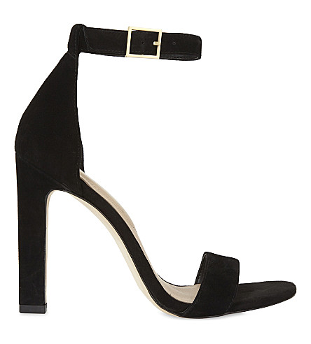 ALDO Figarro suede high sandals (Black+suede