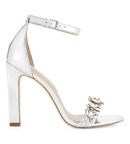 ALDO Milaa patent heeled sandals (Silver