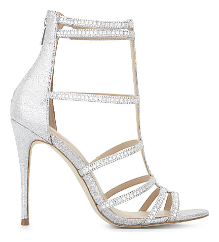 ALDO Mally caged heeled sandals (Silver