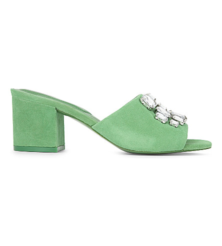ALDO Sakuraa heeled leather sandals (Green