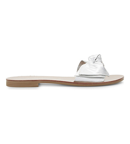 ALDO Prettie leather slide sandals (Silver