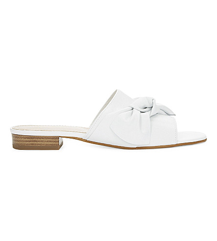 ALDO Bowwie leather slide mule sandals (White