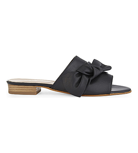 ALDO Bowwie leather slide mule sandals (Black+leather