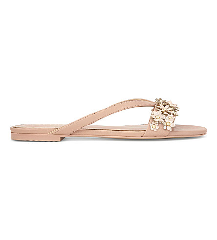 ALDO Maclya flat leather sandals (Light+pink