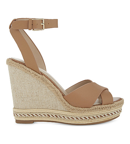ALDO Clodia leather wedge sandals (Cognac
