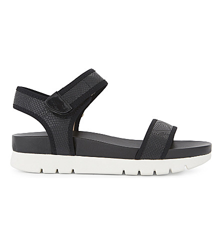 ALDO Robby flatform sandals (Black+synthetic