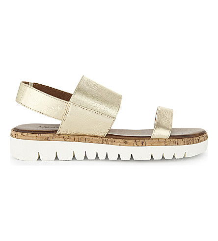 ALDO Toni leather flatform sandals (Gold