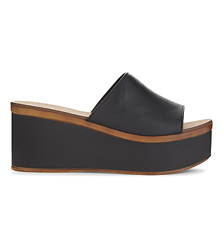 ALDO Rubicone platform sandals (Black+leather