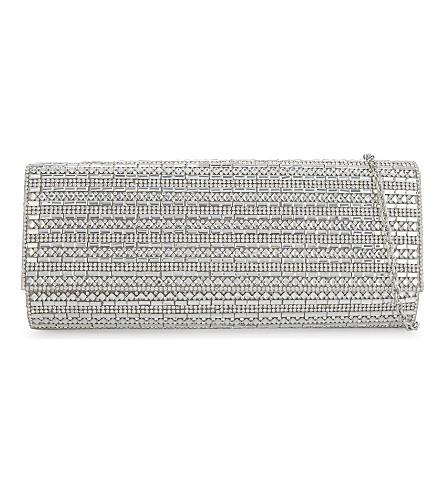 ALDO Bascemi baguette clutch (Silver