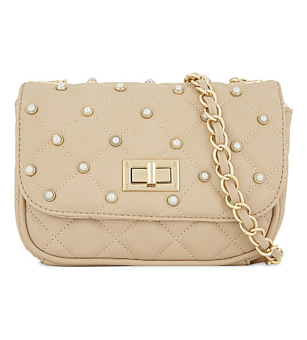 ALDO Mojave quilted cross-body bag (Natural