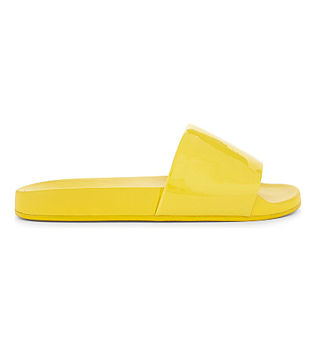 ALDO Maurizia scalloped slider sandals (Yellow+miscellaneous