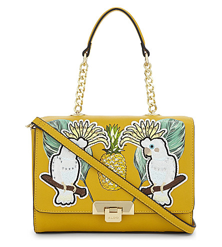 ALDO Daiano tropical shoulder bag (Light+yellow
