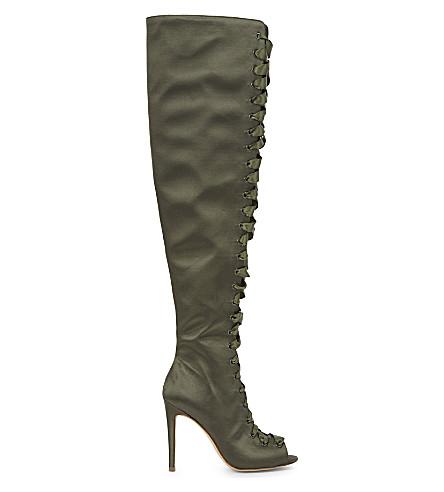 ALDO Cherisse over-the-knee boots (Khaki