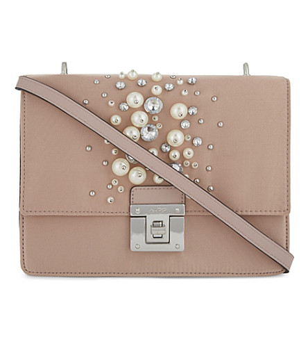 ALDO Hiari satin cross-body bag (Light+pink