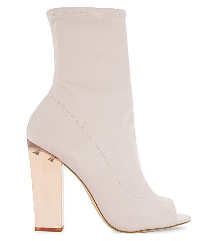 ALDO Jupiter satin block heels (Light+pink