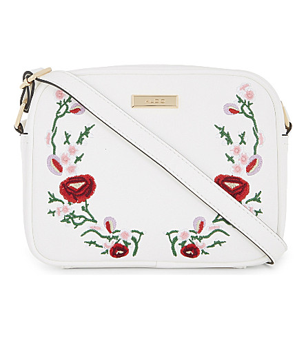 ALDO Thaeven faux-leather cross-body bag (White