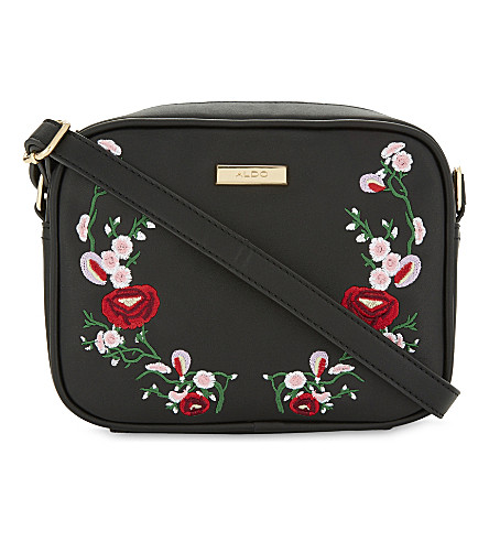 ALDO Thaeven embroidered cross-body bag (Black