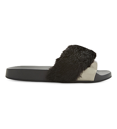 ALDO Gotta faux-fur sandals (Black