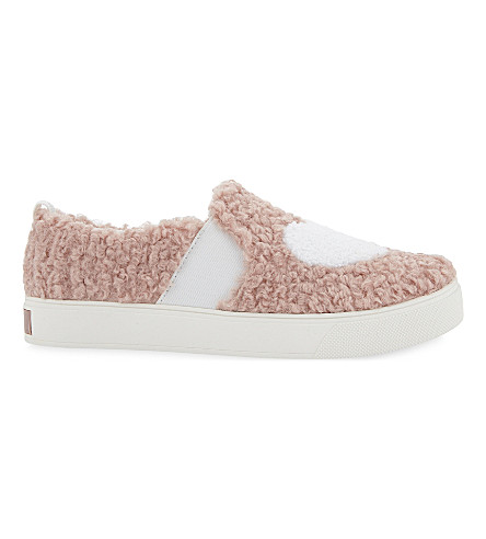 ALDO Loveawen fluffy heart slip-on trainers (Pink+miscellaneous