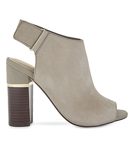 ALDO Aressa nubuck heeled sandals (Grey+nabuck