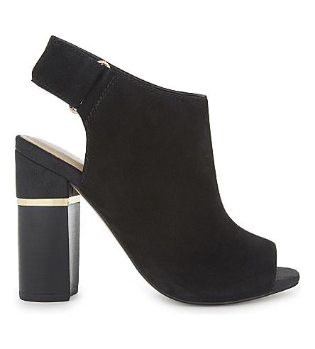 ALDO Aressa nubuck heeled sandals (Black+nubuck