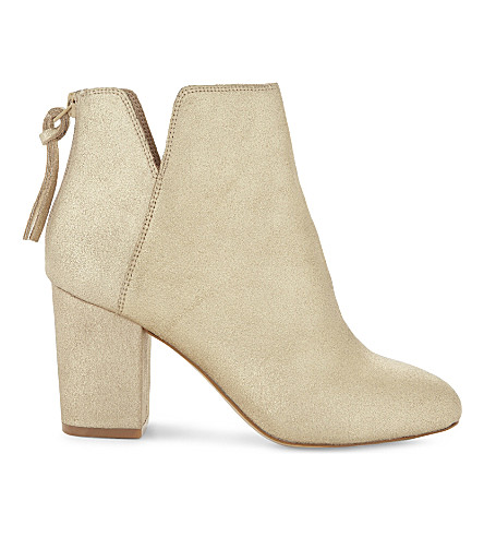 ALDO Dominicaa leather ankle boots (Gold