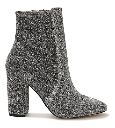 ALDO Aurella glittered ankle boots (Silver