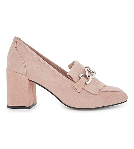 ALDO Alenne suede heeled loafers (Pink+miscellaneous