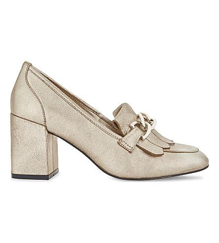 ALDO Alenne leather heeled loafers (Gold