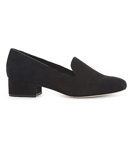 ALDO Cyllan 绒面革乐福鞋 (黑 + 磨砂