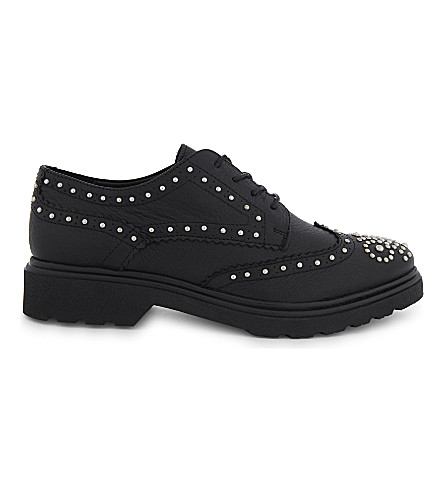 ALDO Kedelani studded leather brogues (Black+leather