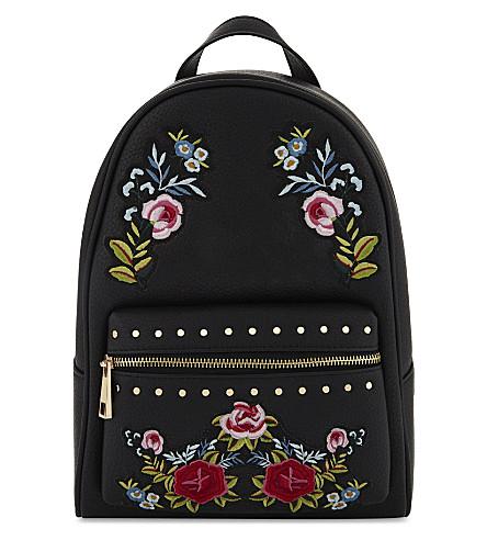 ALDO Sunriver faux-leather backpack (Black
