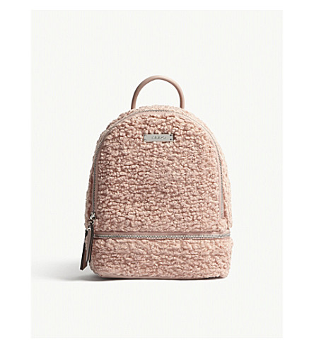 ALDO Anacoedo woollen and faux-leather backpack (Light+pink