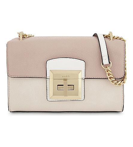 ALDO Odin grained satchel (Light+pink