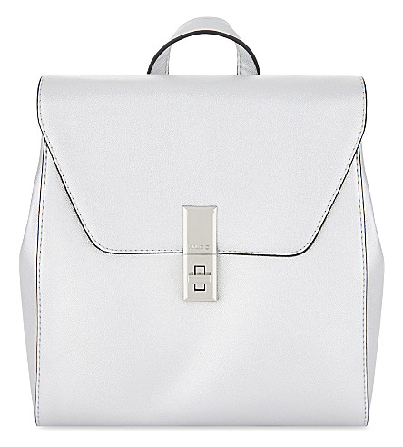 ALDO Dare faux-leather backpack (Silver