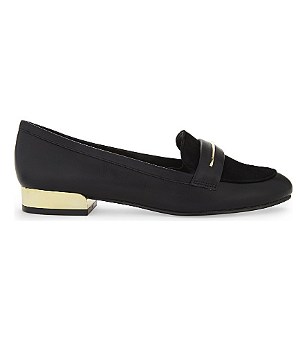 ALDO Claurinda faux-leather loafers (Black+synthetic