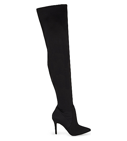 ALDO Sailors over-the-knee boots (Black+satin