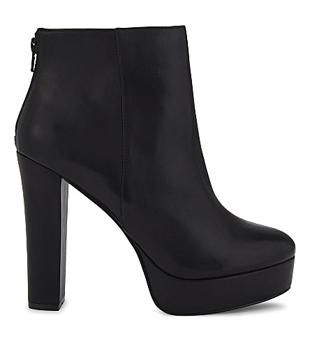 ALDO Kasser platform boots (Black+leather